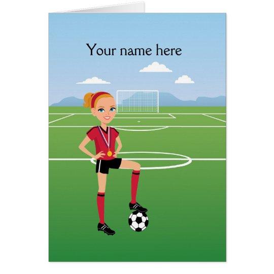Girl Soccer Player / Soccer Match  Invitation