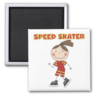 Girl Speed Skater Tshirts and Gifts Refrigerator Magnet