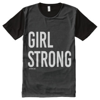 Girl Strong -   Girl Fitness -.png All-Over Print T-Shirt
