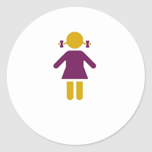 Girl - Super Girl Round Sticker