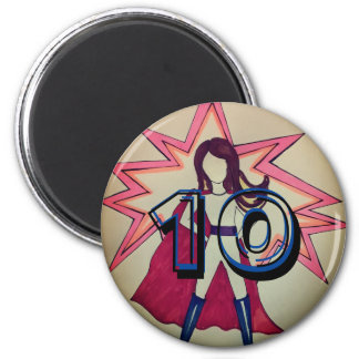 Girl superhero 10 magnet