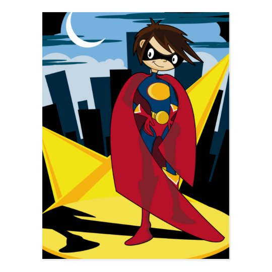 Girl Superhero Postcard