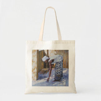 Girl Sweeping II 2002 Tote Bag