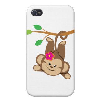 Girl Swinging Monkey iPhone 4/4S Cover