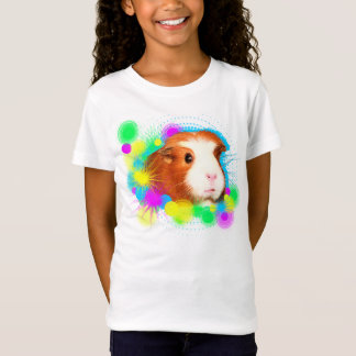 Girl T-shirt with guinea pigs