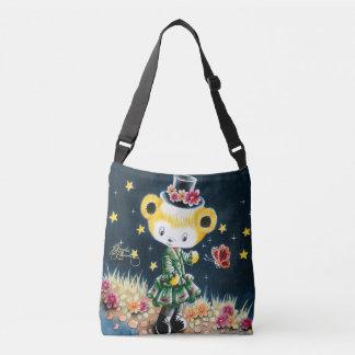Girl Teddy Bear In A Top Hat Tote Bag