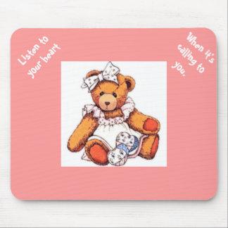 Girl Teddy Bear Mouse Pad