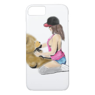 Girl & Teddy love iPhone 8/7 Case