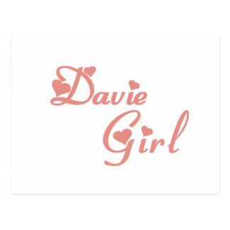 Girl tee shirts post card