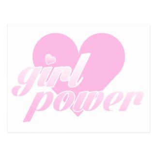 girl to power postcard