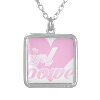 girl to power silver plated necklace
