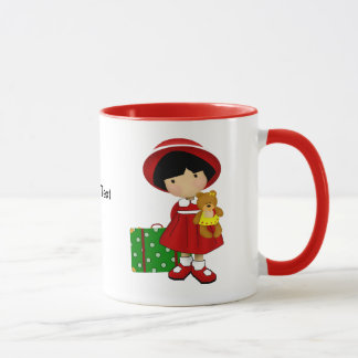 Girl Traveler Custom Mug