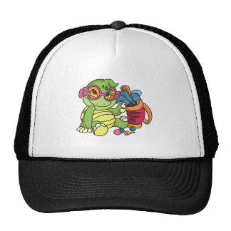 Girl Turtle Golfer Cap