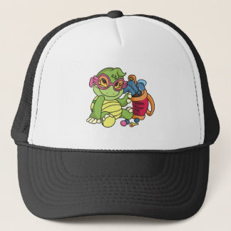 Girl Turtle Golfer Trucker Hat