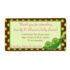 Girl Twins Peas in a Pod Baby Shower Favour Label