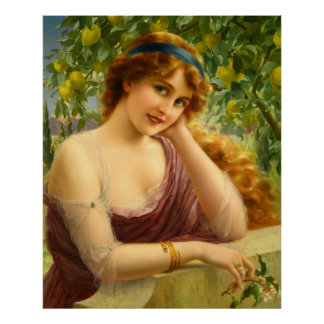 Girl Under the Lemon Tree Poster
