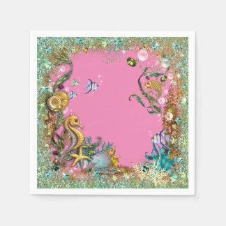 Girl Under The Sea Paper Napkin