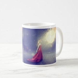 Girl vs. a Meteor Coffee Mug