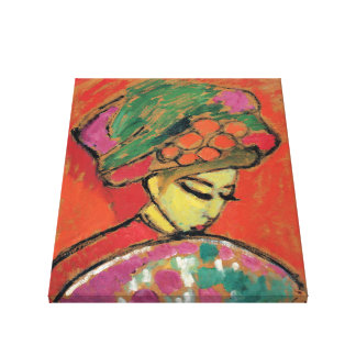 """""""Girl w/Flowered Hat"""" Alexei Jawlensky Gallery Wrapped Canvas"""