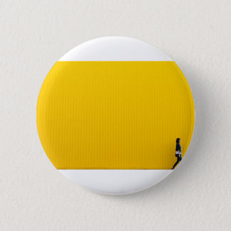 Girl Walking Against Enormous Yellow Wall 6 Cm Round Badge