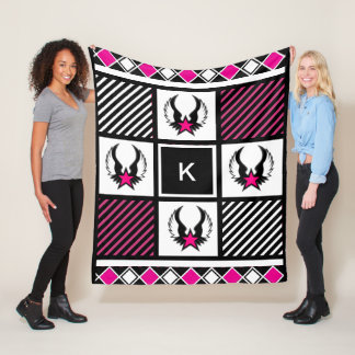 Girl Warrior Fleece Blanket