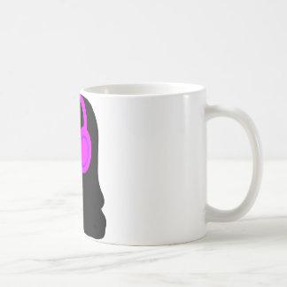 Girl Wearing Headphones Coffee Mug