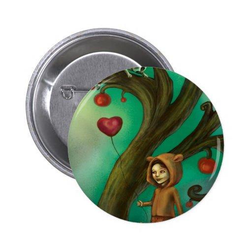 Girl Who Loves Lemurs Pinback Button