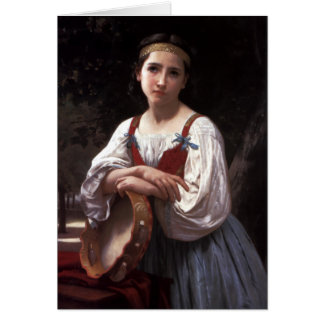 Girl with a Basque Drum by Bouguereau Card