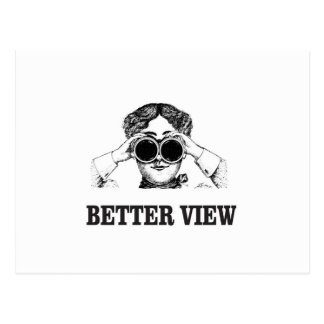 girl with a better view postcard