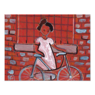 GIRL WITH A BIKE PERSONALIZED INVITATIONS