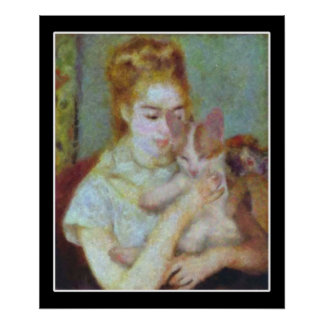 Girl with a Cat Poster