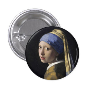 Girl with a Pearl Earring 3 Cm Round Badge