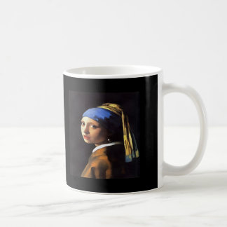 Girl with a Pearl Earring After Johannes Vermeer Coffee Mug