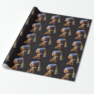 Girl with a Pearl Earring After Johannes Vermeer Wrapping Paper