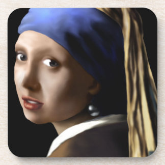 Girl with a Pearl Earring Beverage Coasters