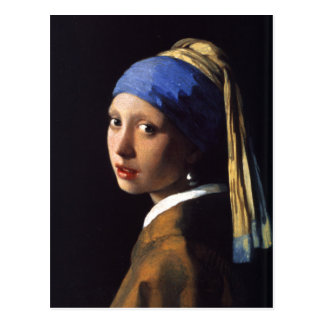Girl with a pearl earring. By Johannes Vermeer Postcard