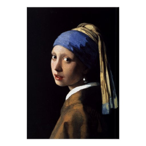 Girl with a Pearl Earring by Johannes Vermeer Poster