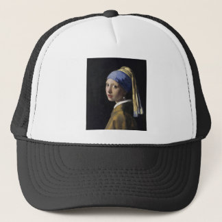 Girl with a Pearl Earring by Johannes Vermeer Trucker Hat