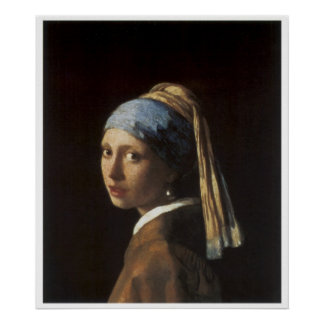 Girl with a Pearl Earring c. 1665-66 Poster