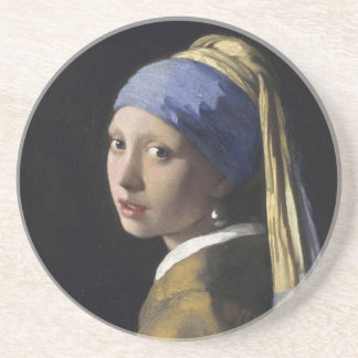 Girl with a Pearl Earring Coaster