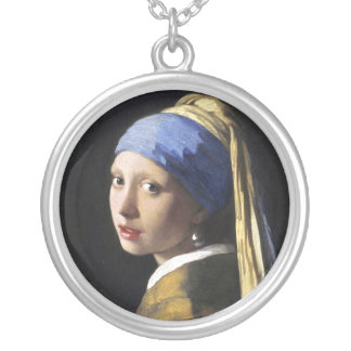 Girl with a Pearl Earring, Jan Vermeer Silver Plated Necklace