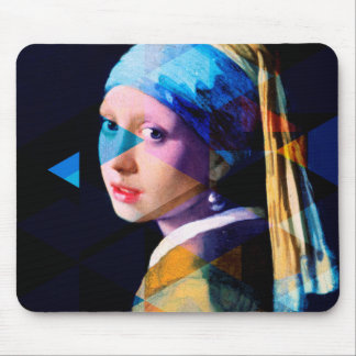 Girl with a pearl earring REMIXED Mouse Pad
