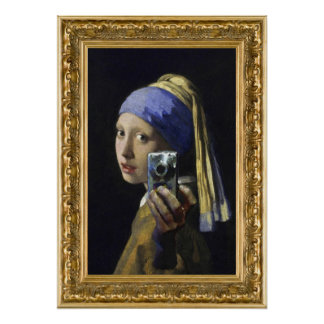 Girl with a Pearl Earring - self shot Poster