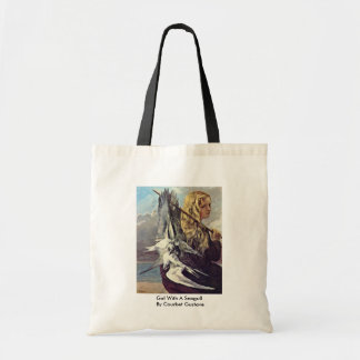Girl With A Seagull By Courbet Gustave Bags