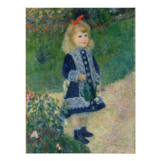 Girl with a Watering Can by Auguste Renoir Poster