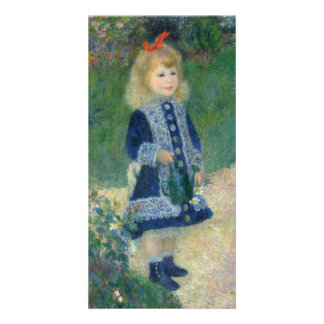 Girl with a Watering Can by Pierre-Auguste Renoir Picture Card