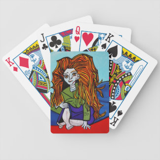 GIRL WITH ATTITUDE BICYCLE PLAYING CARDS