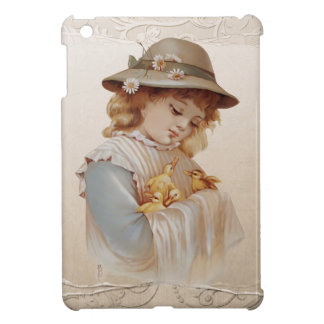 Girl with Baby Ducks iPad Mini Cover