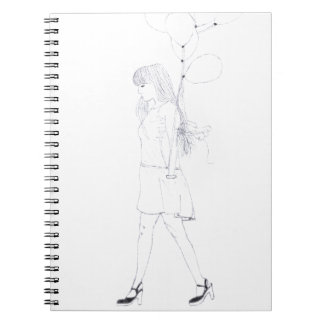 Girl with Balloons notebook