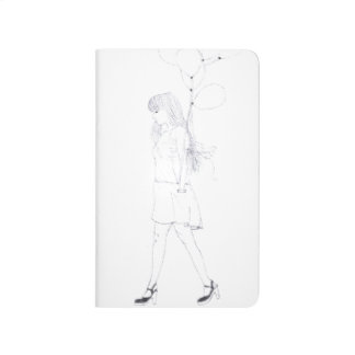 Girl with Balloons pocket journal